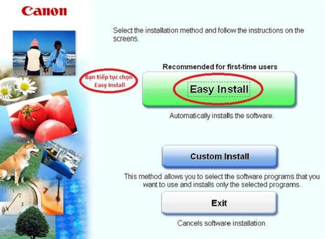 Giao diện chọn Easy Install